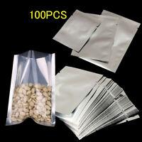 100x Heat Seal Aluminium Foil Bags Vacuum Sealer Pouches Food Grade Storage Bag-