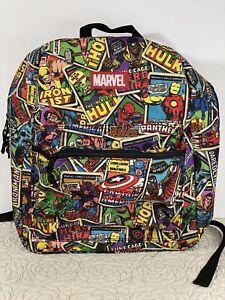 Marvel Backpack Book Bag. Spiderman Hulk Ironman Black Panther…