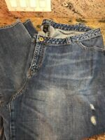 Lane Bryant Women's Size 26 Jeans Medium/Dark Wash Distressed Inseam 28