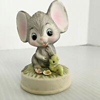 Vintage Napcoware Mouse w/ Inchworm Caterpillar C9447 Japan