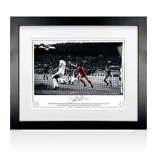 Framed Phil Neal Signed Liverpool Photo - 1984 European Cup Winners