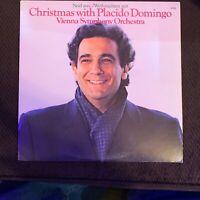 Christmas With Placido Domingo & the Vienna Symphony Orchestra - EX OG vinyl LP