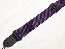 "PERRI's Purple and Black WEAVE Guitar strap - NEW - 2"" wide"