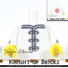 LEGO Minifigure Torso 346 WHITE Ninjago Karate Robe RED Flower Medallion