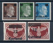 Echte Briefmarken aus deutschen Besetzungsgebieten im 2. WK mit BPP-Signatur