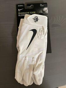 Men's Nike Adult Huarache Edge (White) Batting Gloves - XL