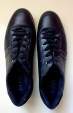 ECCO Womens Walking Sneakers Black Leather Lace Up Shoes Size EUR 40 US 9