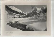 bella cartolina di luogo sconosciuto buon natale e' un paese di montagna 1954