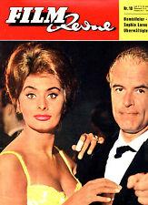 FILM REVUE Nr. 10 von 1961, Titelbild Sophia Loren und O. W. Fischer, KULT