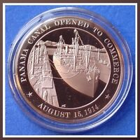 1914 PANAMA OPENED TO TRADE - Franklin Mint SOLID BRONZE Medal - UNCIRCULATED