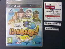 NATIONAL GEOGRAPHIC CHALLENGE PS3 PLAYSTATION 3 PAL NUOVO SIGILLATO