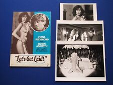 Let's Get Laid - Fiona Richmond  UK Promotional Press book 1977