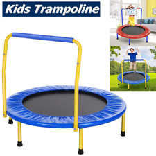 Kids Trampoline With Safety Net Mini Toddler Rebounder 36'' Outdoor Fun Toy UK