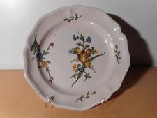 Assiette ancienne faience 18 th XVIII siecle sud ouest France décor fleur