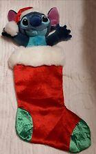 Lilo & Stitch Disney Store 2003 Christmas Hanging Stocking Retired Plush