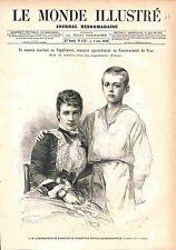 Maria Feodorovna Dagmar of Denmark Nicholas II TSAR RUSSIA ANTIQUE PRINT 1883