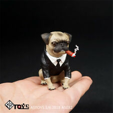 ASTOYS 1/6 2018 AS032 Pug Wear A Suit Cigar Dog Scene Props Men In Black