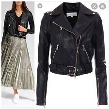 Patrizia Pepe Leather Biker Jacket Size S