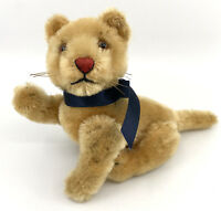 Steiff Lioness Lion Cub Jointed Mohair Plush 10cm 4in 1950s Glass Eyes no ID Vtg