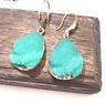 Gorgeous Stunning Zara Turquoise Blue Druzy Drop earrings