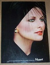 1979 print ad page - Cristina Ferrare Monet fashion jewelry Vintage Advertising