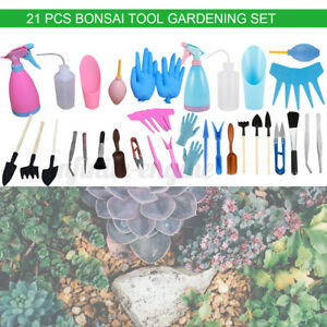 21Pcs Mini Garden Hand Tool Set Succulent Bonsai Scissors Plant Trimming Kit ♤