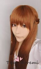 Cosplay Perücke New Fashion BROWN woman party styled Lang Anime haar FREE SHIP