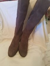 Womens Knee High Suede Heeled Boots size 8.5
