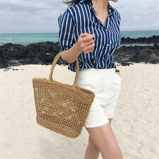 Large Straw Handbag Women Rattan Woven Handmade Beach Bag Knitted Shoulder Tote