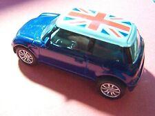 Blue MINI COOPER British Flag Roof Die-Cast Model Car