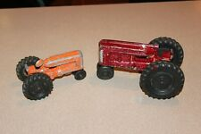 2 Vintage 1950's HUBLEY and HUBLEY JR Toy Tractors