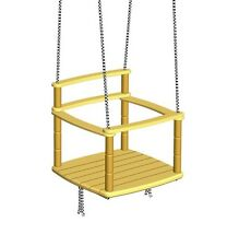 Rope Swing for Indoor Playground, Tree Wooden Hanging Kids Baby Chair Seat
