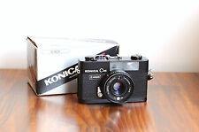 KONICA C35  - Black   35mm Rangefinder Camera   - Boxed  w/ Leather case, manual