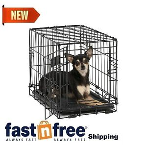 Small Dog Cage Travel Crate Portable Little Home Metal Foldable Pet X Dogs Cats