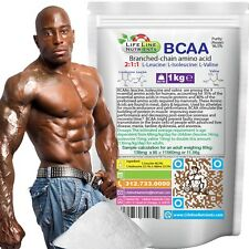 BCAA Powder (Branched Chain Amino Acid) - 1kg (2.2 lb) - Free Shipping (Pouch)
