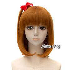 35CM Anime for Love Live! Kousaka Honoka Wavy Orange Short Hair Cosplay Wig+Cap