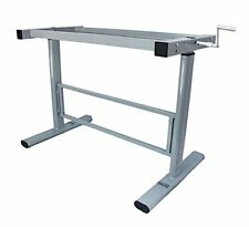 Manual Height Adjustable Standing Desk Base Frame, Stand Up Sit Down Table Legs,