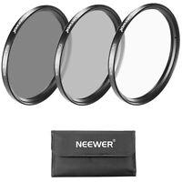 Neewer 62MM Lens Filter Kit: UV Filter + CPL Filter + ND4 Filter + Filter Pouch