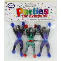 TOY NINJA STICKY MAN PACK OF 3 PARTY LOOT BAG FILLER TOY GIFT PINATA FILLER