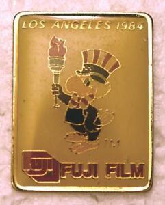 """1984 Los Angeles Olympics Fuji Film Collectors Pin - Sam The Eagle 1-1/8"""" x 7/8"""""""