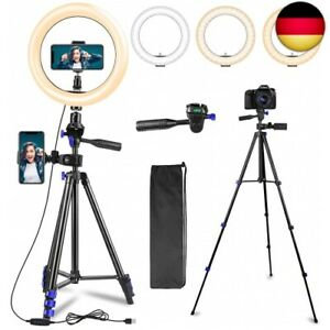 Ring light with tripod, 10.2 inch LED selfie ring light with 2 phone holders,