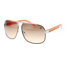Mens Metal Flat Top Mobster Fashion Light Color Lens Racer Aviator Sunglasses