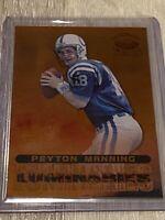 1998 Topps Stars Peyton Manning Luminaries #72/100 #L13 Super Rare Football Card