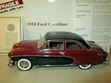Danbury Mint 1950 Ford Crestliner 1:24 Diecast in Box w/Docs