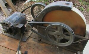 "Wet Sharpening Stone, 10"" whet stone, vintage grinder, w/motor"