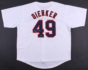 Larry Dierker Signed Astros Jersey TriStar Houston Colt.45s / Astros (1964–1976)