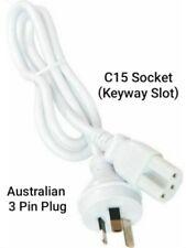 C15 Power Lead, Appliance lead, keyway / slot (kettles, Birkos) 240V 10amp 1MTR
