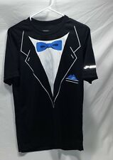 "Brooks performance Running Shirt Tuxedo front ""thank you running"" back Black XS"