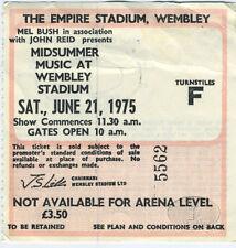 ELTON JOHN 1975 Captain Fantastic Midsummer Wembley Ticket Stub Eagles
