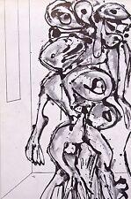 """Antonio Saura montado Vintage Impresión, Hiroshima, Stedelijk, 1964, 14 X 11"""" A41"""